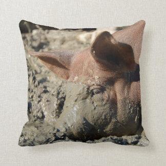 Almofada Cara enlameada engraçada do porco