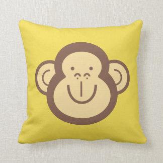 Almofada Cara pequena bonito do macaco decorativa
