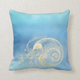 Almofada Caranguejo do ouro de Ombre Tiffany do Aqua do