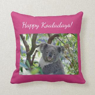 Almofada Cartão de Natal adorável feliz do koala de