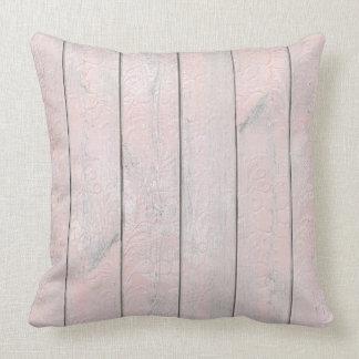 Almofada Casa de madeira da casa de campo do rosa cinzento