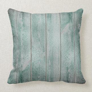 Almofada Casa de madeira metálica Glam cinzenta verde da