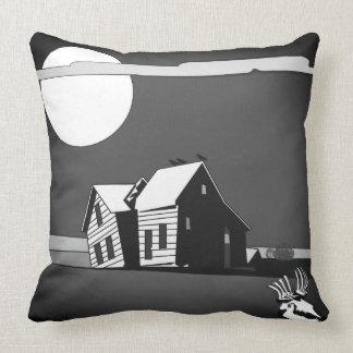Almofada Casa do fantasma de Dustbowl do americano na noite