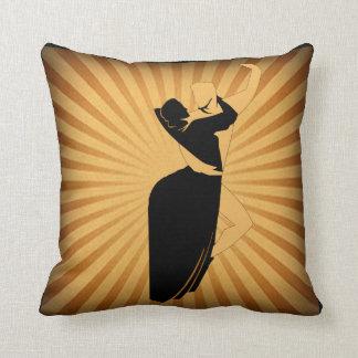 Almofada Casal Tan da dança e travesseiro decorativo preto