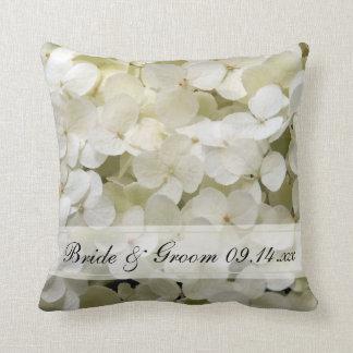 Almofada Casamento floral do Hydrangea branco