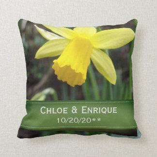 Almofada Casamento personalizado do foco Daffodil macio