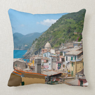 Almofada Casas coloridas em Cinque Terre Italia