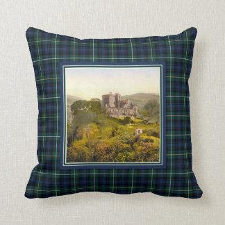 Almofada Castelo Campbell do vintage do Tartan de Argyll