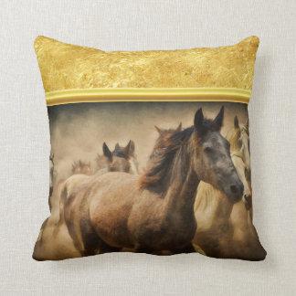 Almofada Cavalo de um quarto americano com um design da