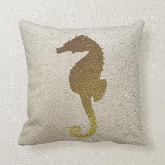Almofada Cavalo marinho do ouro e travesseiro decorativo
