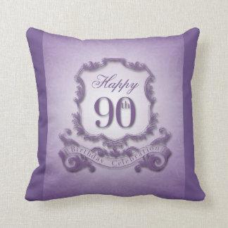 Almofada celebração do aniversário do 90 com a mensagem