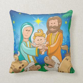 Almofada Cena doce da natividade do bebê Jesus