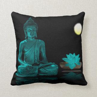 Almofada Cerceta Buddha e Lotus no travesseiro decorativo