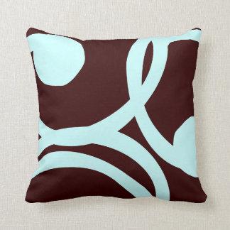 Almofada cerceta e travesseiro abstrato do teste padrão do