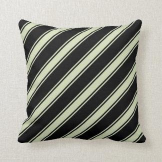 Almofada Chá verde & travesseiro diagonal preto das listras