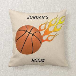Almofada Chamas do basquetebol do travesseiro das crianças