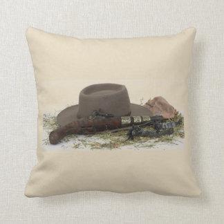 Almofada Chapéu, arma e dentes retos de vaqueiro
