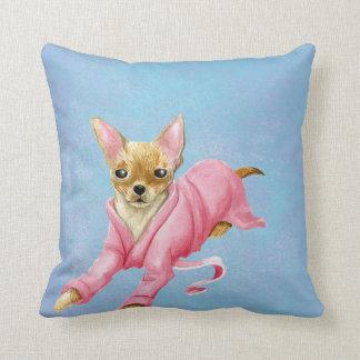 Almofada Chihuahua em um travesseiro decorativo do cão do
