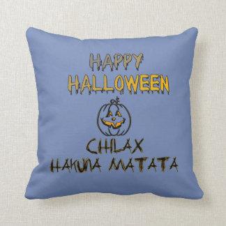 Almofada Chilax o Dia das Bruxas feliz assustador nenhuma