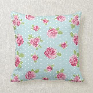 Almofada Chique floral do coxim cor-de-rosa do vintage