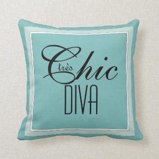 """Almofada CHIQUE PILLOW_GIRLY dos """"DIVA chique tres"""" NO AQUA"""
