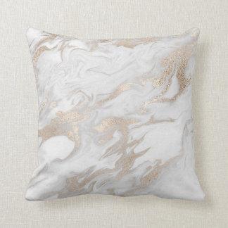 Almofada Cinzas brancas de mármore Glam cremosas perolados