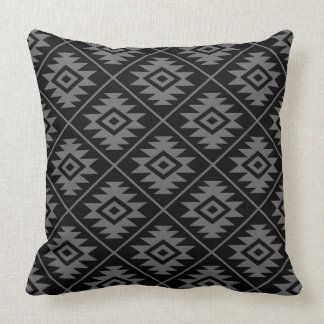 Almofada Cinzas estilizados & preto do símbolo asteca 2Way