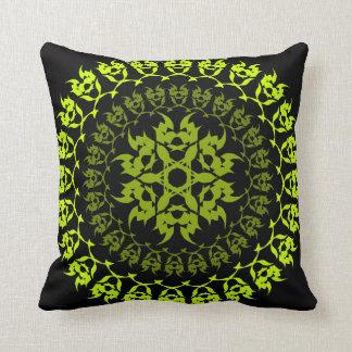 Almofada círculo verde do colmilho