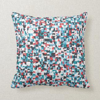 Almofada Círculos & travesseiro geométricos do teste padrão