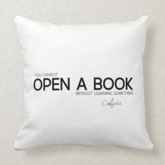 Almofada CITAÇÕES: Confucius: Abra um livro