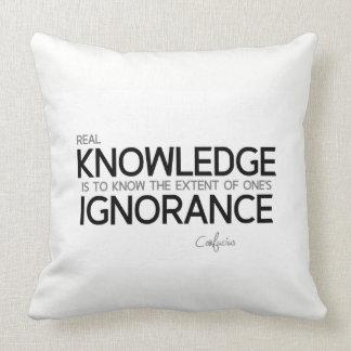 Almofada CITAÇÕES: Confucius: Conhecimento real
