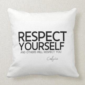 Almofada CITAÇÕES: Confucius: Respeito você mesmo