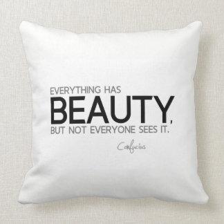 Almofada CITAÇÕES: Confucius: Tudo tem a beleza