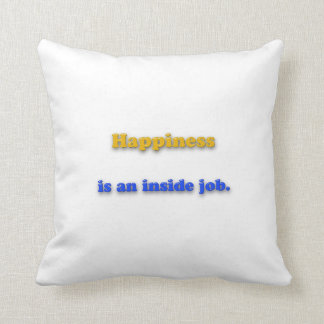 Almofada Citações da felicidade - a felicidade é um