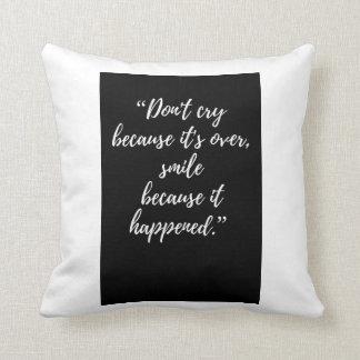 Almofada citações inspiradas do travesseiro das citações