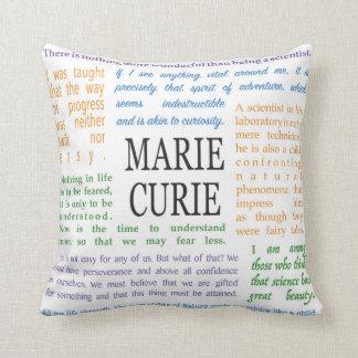 Almofada Citações inspiradas por Marie Curie