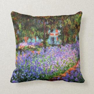 Almofada Claude Monet o jardim do artista em Giverny