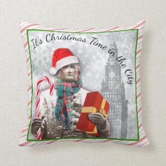 """Almofada Cleveland """"é tempo do Natal TRAVESSEIRO na cidade"""""""