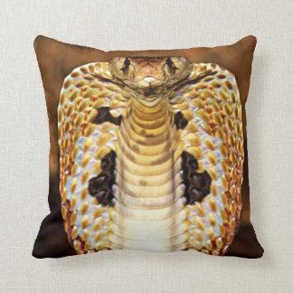 Almofada Cobra da cobra encapuçado/ardência do fogo