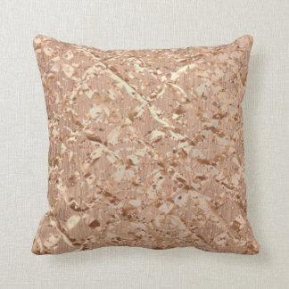 Almofada Cobre Sparkly da composição cor-de-rosa metálica