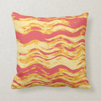 Almofada Cobrir abstrato amarelo alaranjado do travesseiro
