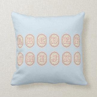 Almofada Cobrir do travesseiro decorativo do alfabeto do
