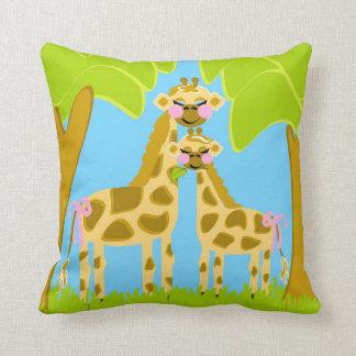 Almofada Cocos o travesseiro do algodão do girafa