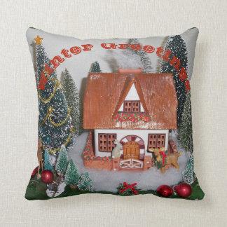 Almofada Coelho do travesseiro da cena do Natal da cabine
