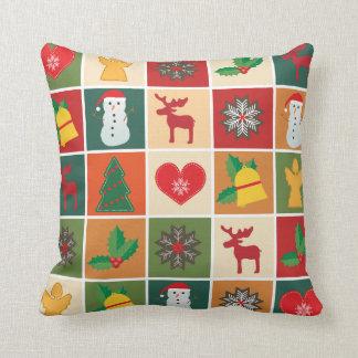 Almofada Colagem colorida do Natal