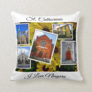 Almofada Colagem do centro da foto do St. Catharines