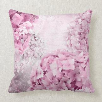 Almofada Colagem do Pastel do Hydrangea da flor do