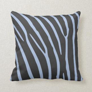 Almofada com listras de zebra (azul e preta)