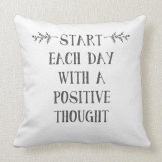 Almofada Comece cada dia com um pensamento positivo