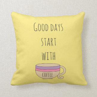 Almofada Começo dos bons dias com café